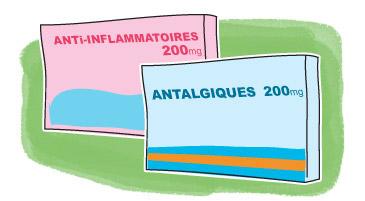 Boîtes d'antalgiques et d'anti-inflammatoires